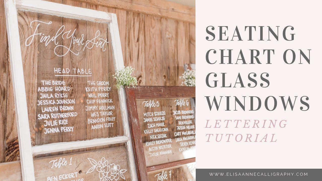 How To Hand Letter A Gl Seating Chart Diy Tutorial