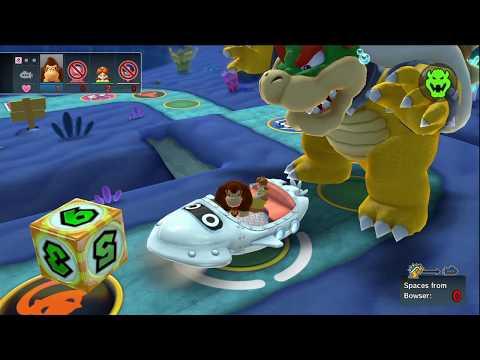 Mario Party 10 - Whimsical Waters (Bowser Vs. Team Mario) Waluigi, Donkey Kong, Daisy, Toadette #126