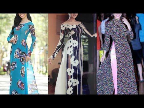 AO DAI/ Vietnamese long kurti designs for girls /new long kurti designs ideas