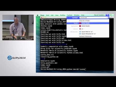 The Wonderful World of Scientific Computing with Python | SciPy 2014 | David Sanders