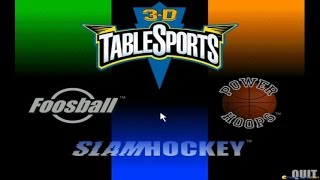 3D Table Sports gameplay (PC Game, 1996)