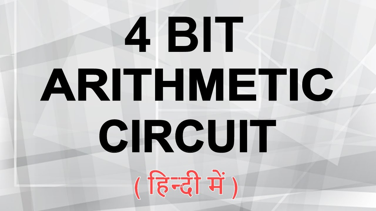 4 bit arithmetic circuit - YouTube  Bit Comparator Logic Diagram on 4-bit johnson counter circuit, 4-bit full adder, 4-bit truth table,