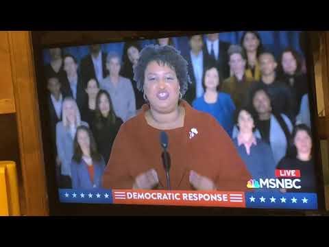 Stacy Abrams SOTU Speech Sets Democratic Values