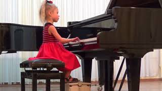 (Элина 5 лет) Концерт в ДШИ им.Л.В. Собинова (16.11.17) Г. Гендель 'Менуэт' - Р. Пейс 'Тарантелла'