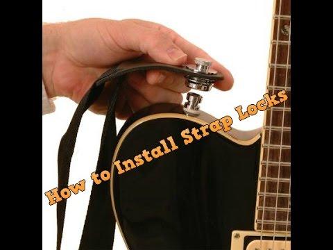 install strap locks on fender stratocaster youtube. Black Bedroom Furniture Sets. Home Design Ideas
