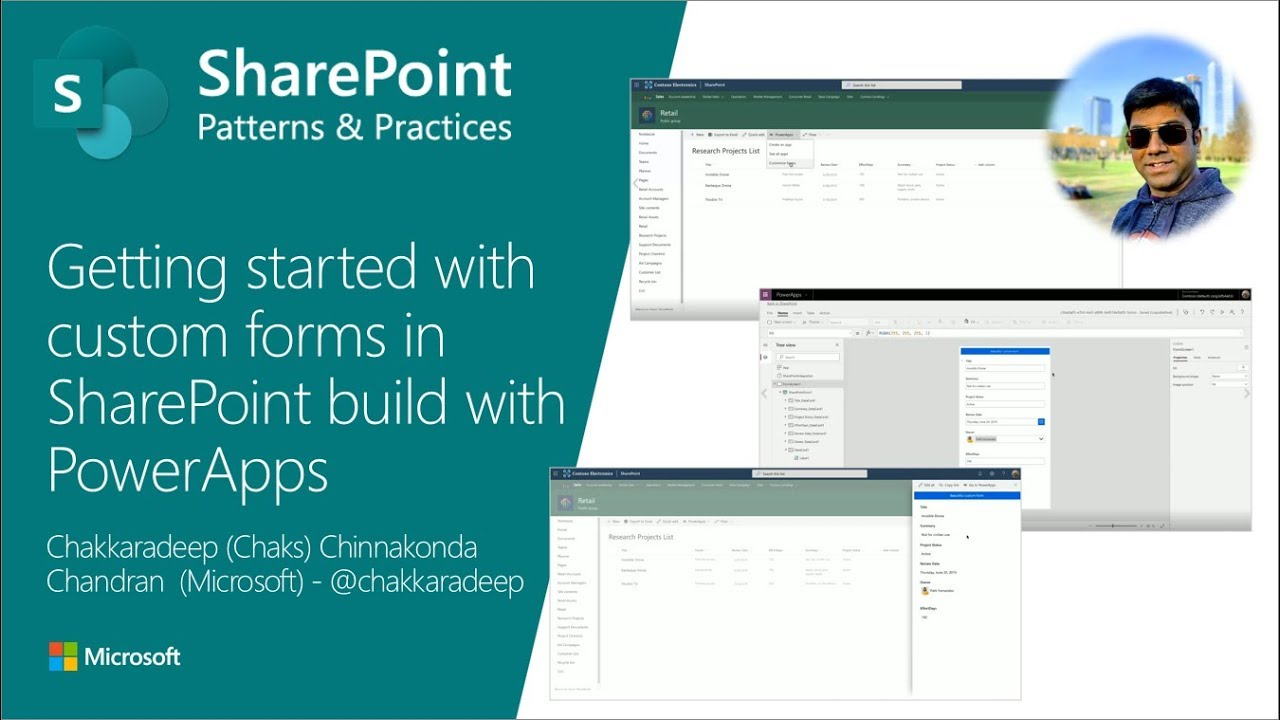 Community Call Demo - Getting started with custom forms in SharePoint build  with PowerApps