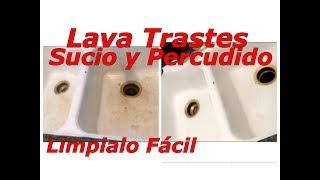 Como limpio un lava trastes sucio,percudido,(sink )productos que utilizo