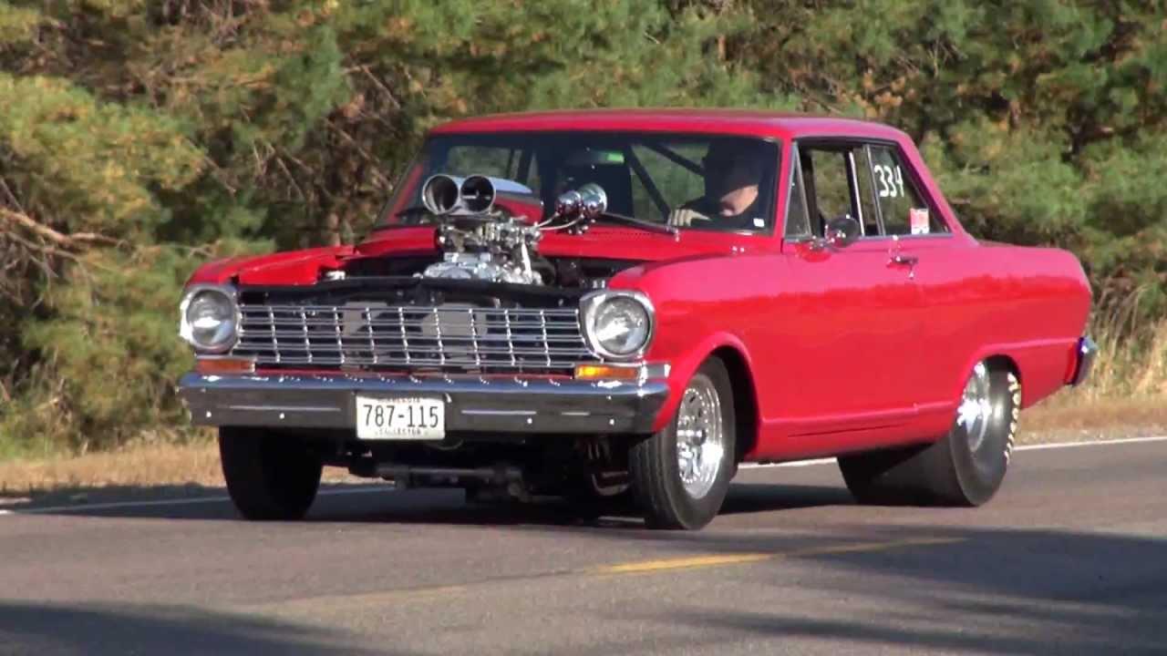 All Chevy 64 chevy ii : 64 Chevy Nova Burnout - YouTube