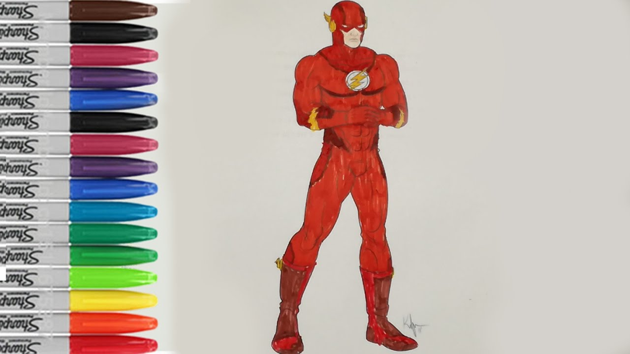 The Flash Coloring Pages The Flash Justice League Fun Pages