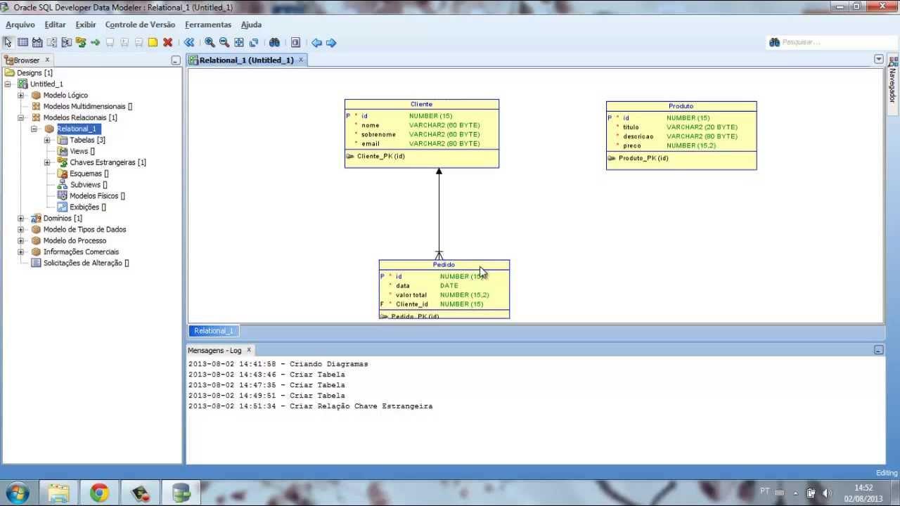 Modelo Relacional - Oracle SQL Developer Data Modeler 3.3 PT-BR ...