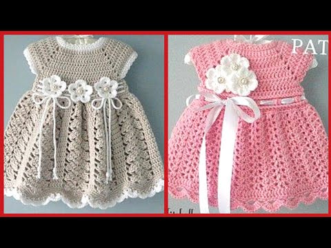 Hand Knitted Dresses And Baby Crochet Frocks Patterns