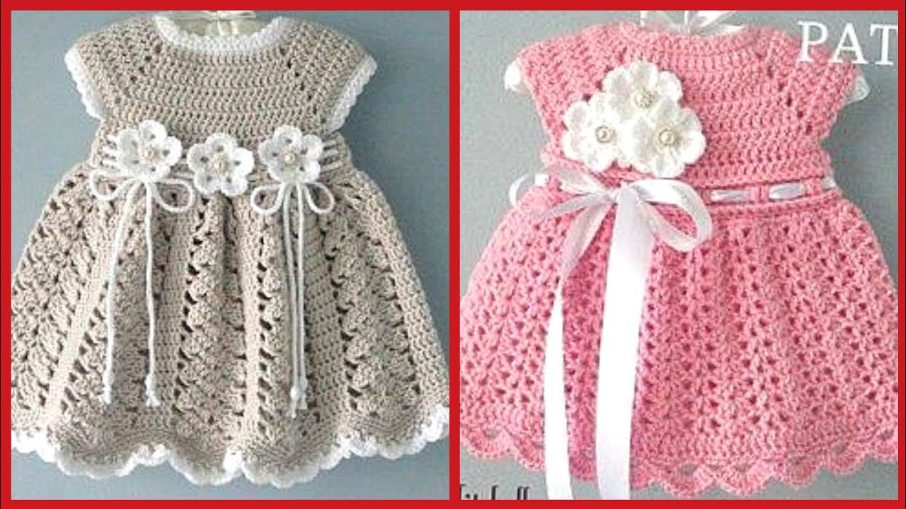 Hand Knitted Dresses And Baby Crochet Frocks Patterns ...