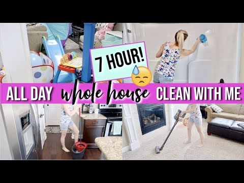 *NEW!*  EXTREME WHOLE HOUSE CLEAN WITH ME 2019 | ALL DAY CLEANING MOTIVATION | 7 HOURS OF CLEANING!