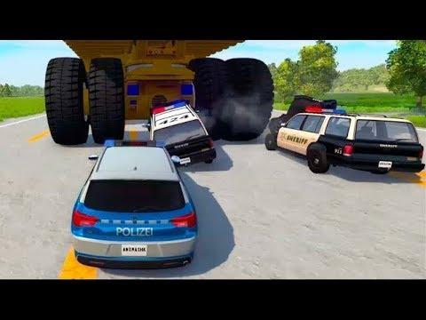 Мультики про машинки - Полицейские машины и Белаз. Видео для мальчиков новые серии #игровой мультик