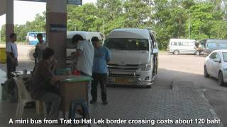 Journey from Trat to Koh Kong via Hat Lek border crossing