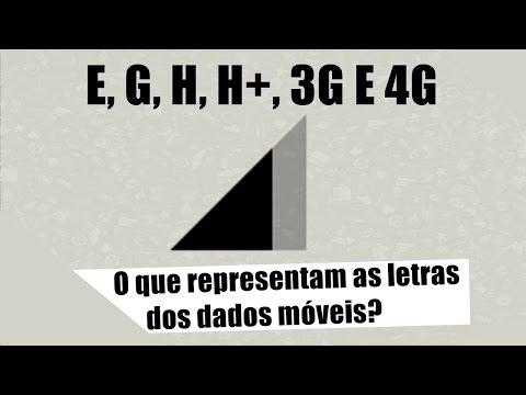 O que significa as letras E, G, H, H+, 3G E 4G?
