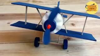 How To Make Biplane from Plastic Bottle || PESAWAT SAYAP GANDA DARI BOTOL BEKAS