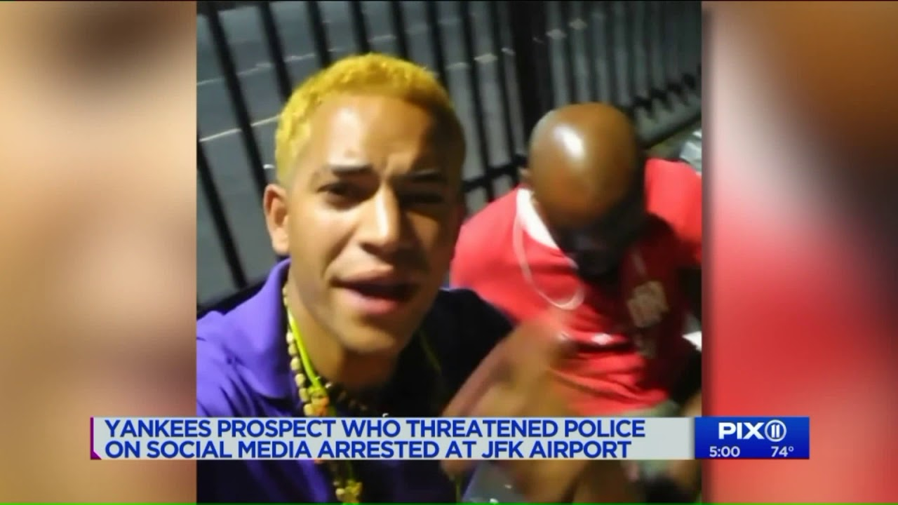 Yankees prospect who threatened police on social media arrested at JFK airport