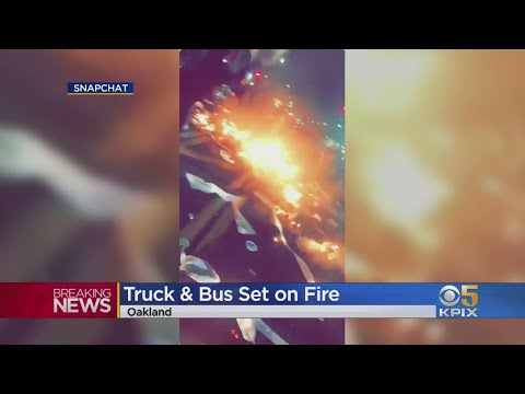 G BiZ - East Oakland Sideshow Ends With Bullets & Bus Fires!!