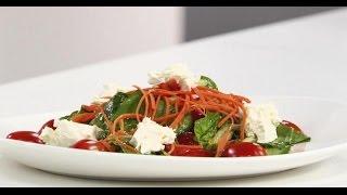 Салат из шпината с козьим сыром | 7 нот вегетарианской кухни