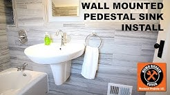 How to Install a Wall Mounted Pedestal Sink (Step-by-Step)