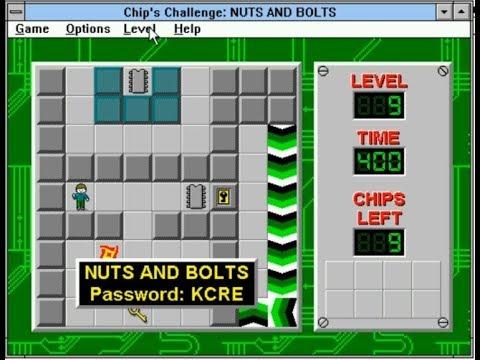 Chip's Challenge In Windows 3.11 - DOSBox Portable