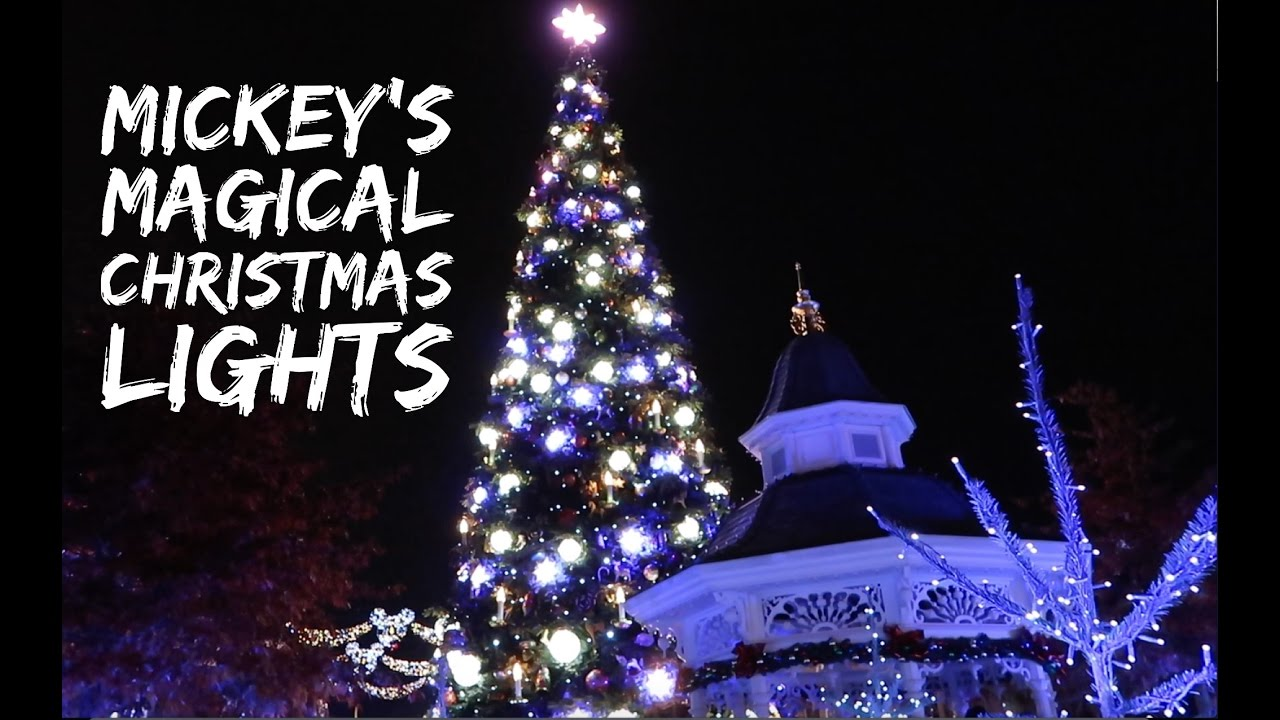 mickeys magical christmas lights disneyland paris november 2016 hd