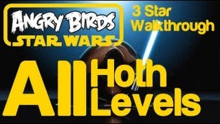 Angry Birds Star Wars - All Levels Hoth Episode V 3 Star Walkthrough 3-1 to 3-40 Golden Droid Location Bonus Levels