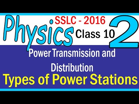PHYSICS| PART 2 - CHAPTER 4 -Power generation|Types of Power Stations | 2016 | | CLASS 10