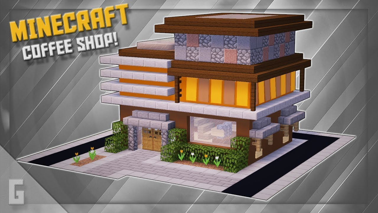 магазин в майнкрафт постройка #9