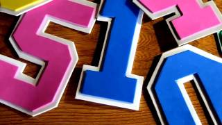 Draw and Cut out Jersey Numbers