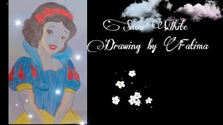 Snow White Drawing by Fatima    drawing   Girls Drawing   Princes Drawing   Beautiful Girls Drawing.