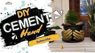 How to make a golden cement hand | Crafting a beautiful golden cement hand