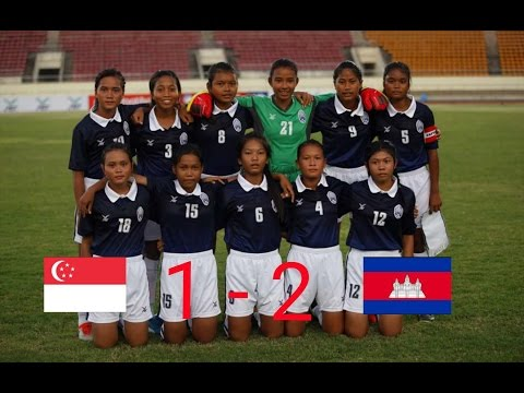 Singapore Vs Cambodia 09/05/2017 (AFF U15 Girls' Championship 2017) Group B (MD1)