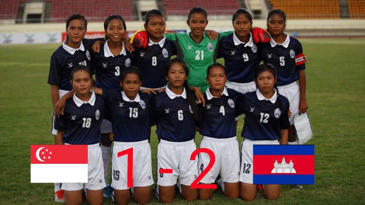Singapore Vs Cambodia 09/05/2017 (AFF U15 Girls' Championship 2017) Group B (MD1)