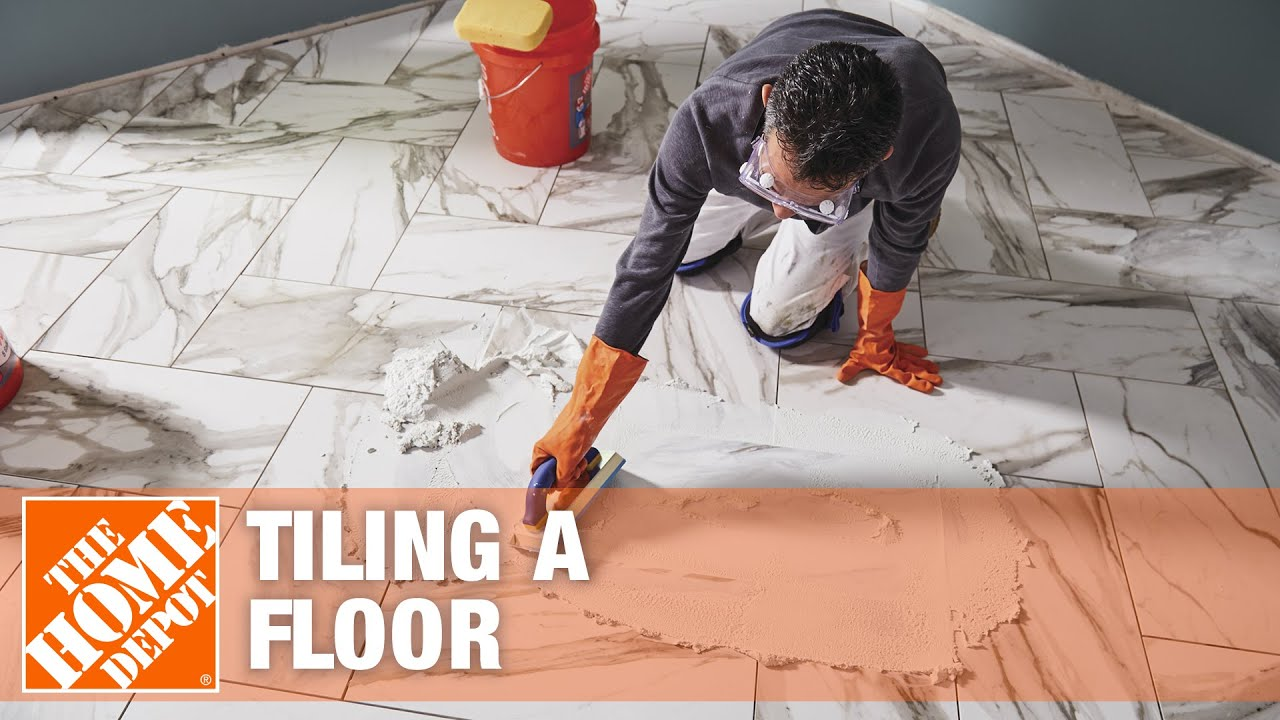 Tile Floor Installation: How to Prepare and Lay Tile - YouTube
