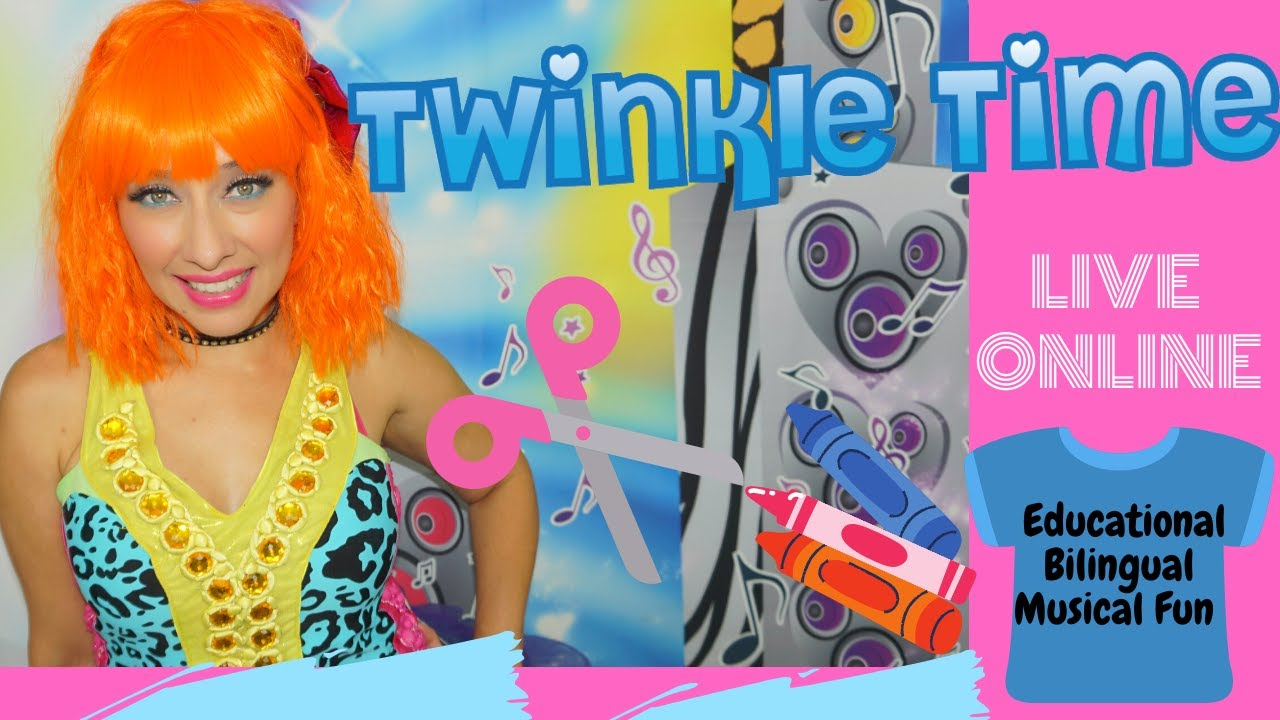Twinkle Time LIVE Online ! Educational-Bilingual -Musical Fun ! DIY| Custom T-shirts For Kids