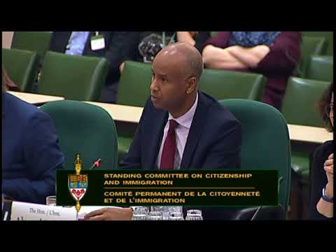 Ahmed Hussen on Immigration to Canada, February 15, 2018