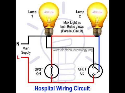 [SCHEMATICS_4CA]  Hospital Wiring Circuit for Light Control using Switches | Hospital Wiring Circuit Diagram |  | Electrical Technology