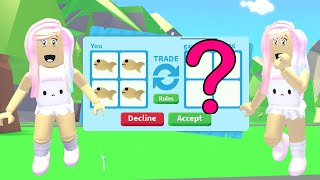 I Only Traded Legendary Golden Goldfish In Roblox Adopt Me