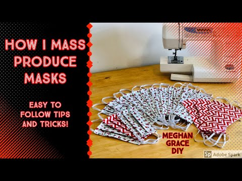 How I Mass Produce Masks And Face Covers - Tips And Tricks!