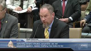 3/11/19 Chris Holbrook, Chair of the Libertarian Party of MN, testifies in support of SF 619