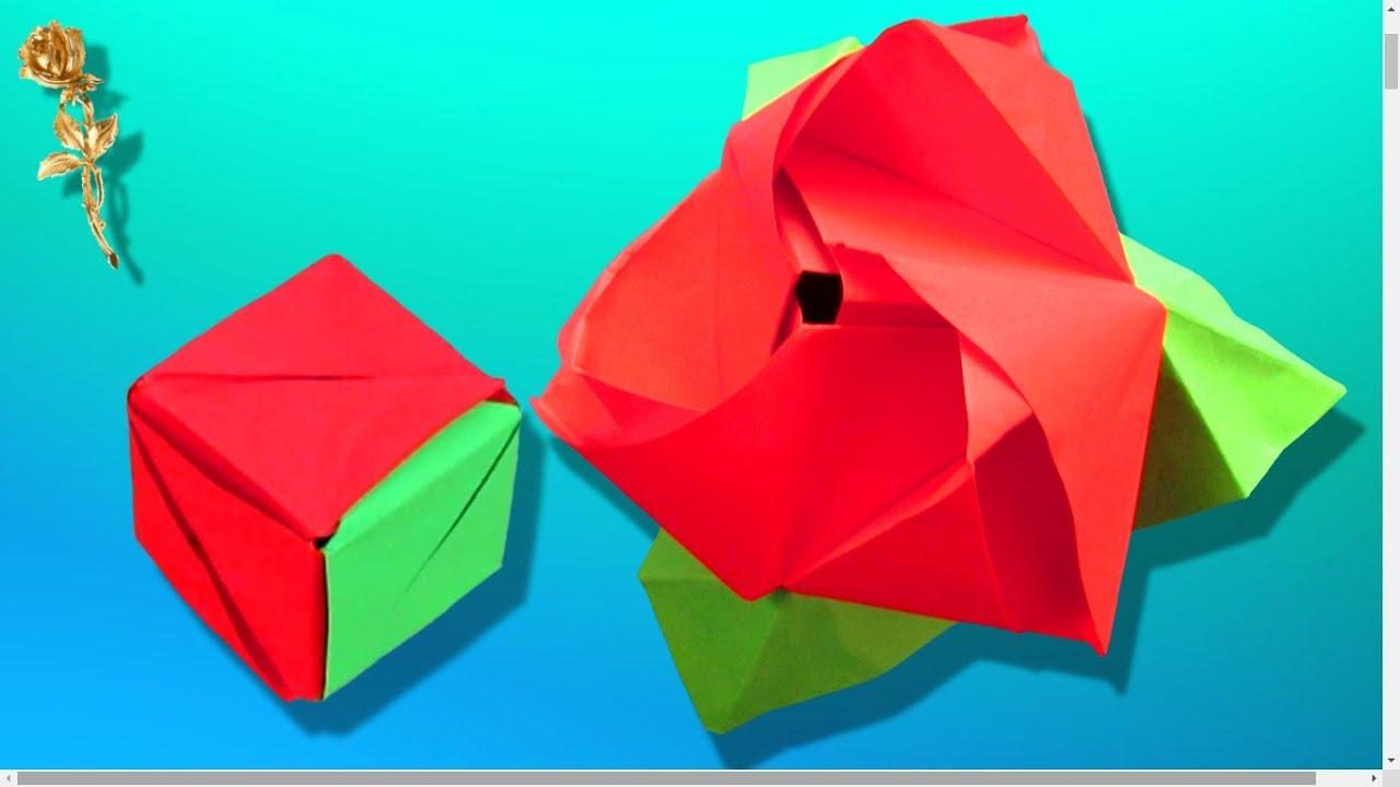 Extrêmement Origami modulaire : 🌹 Rose-cube magique transformable (Valerie  DG84