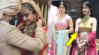 Sanjay Kapoor's Daughter Shayana Kapoor Steals The Show From Jhanvi Kapoor At Sonam Kapoor's Wedding