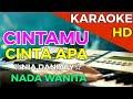 CINTAMU CINTA APA - Nia Daniaty    KARAOKE HD - Nada Wanita