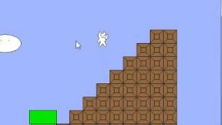 как пройти 1 уровень в игре Cat mario 3