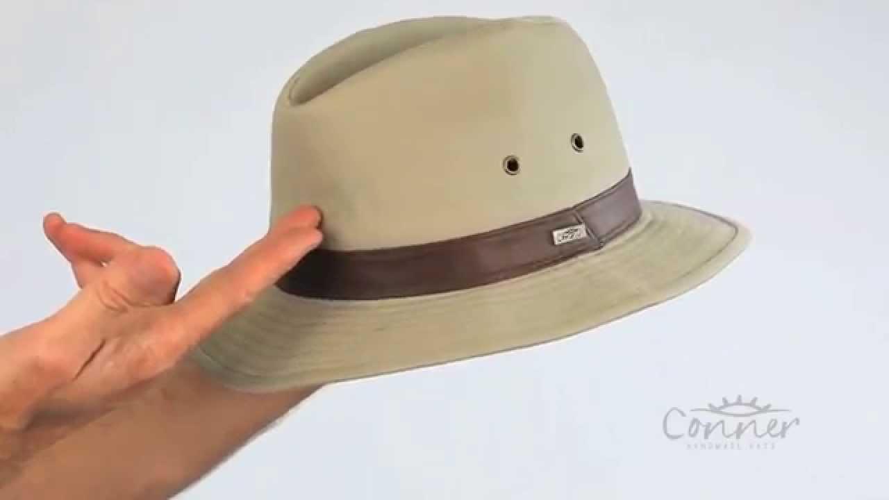 df3aa4d2149e72 Larimer Men's Cotton Safari Hat | Conner Hats