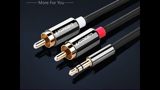 UGREEN 3.5 mm Stereo to 2RCA audio cable (3.5 mm стерео кабель)