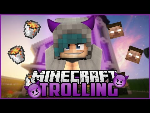 SHE DOESNT CARE! - Minecraft Server Trolling!