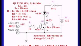 Using NPN Biploar Transistors with Arduino, PIC
